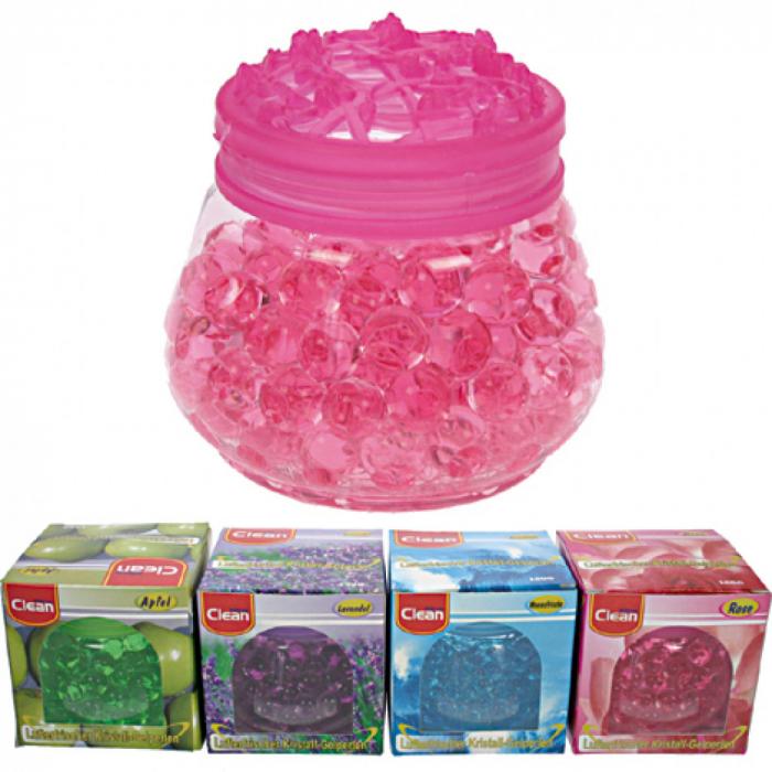 Perle gel odorizante Clean 100 g, parfum de trandafiri 1