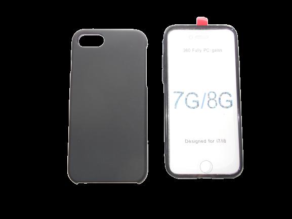 Husa protectie 360° full TPU+PC, spate negru, fata transparenta, iPhone 7, iPhone 8, 7G, 8G 0