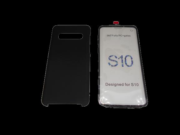 Husa protectie 360° full TPU+PC, spate negru, fata transparenta, Samsung S10 Plus 2