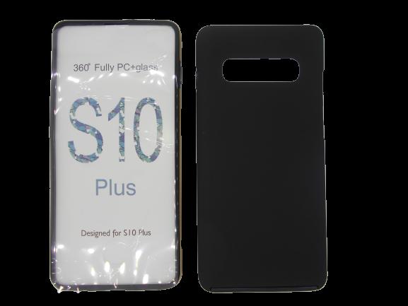 Husa protectie 360° full TPU+PC, spate negru, fata transparenta, Samsung S10 Plus 0