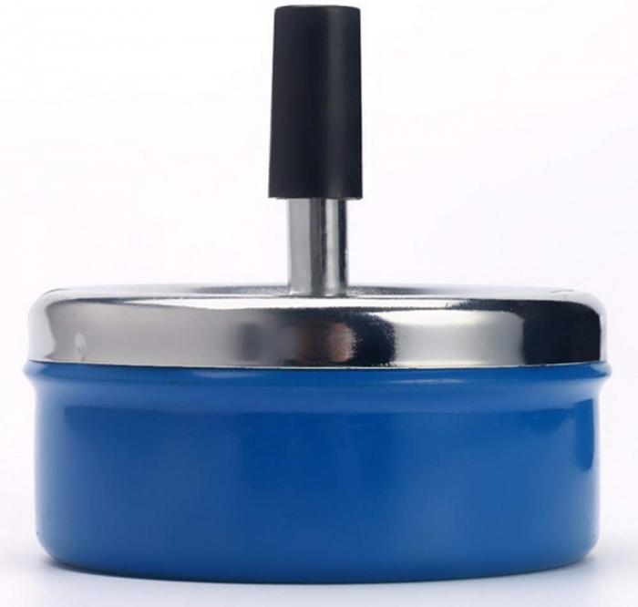 Scrumiera antivant 9,5x4,5 cm albastra 1