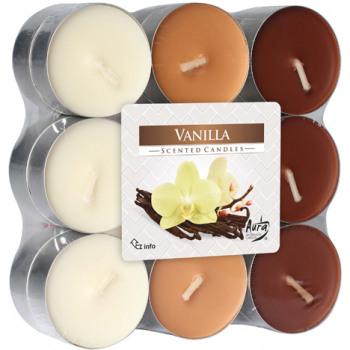 Set 18 lumanari parfumate, cu parfum de vanilie 0