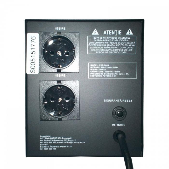 Stabilizator de tensiune cu releu Conter AVR SVR 500VA / 375W 1