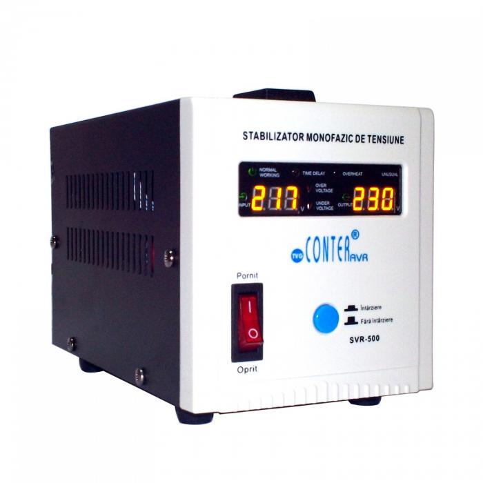 Stabilizator de tensiune cu releu Conter AVR SVR 500VA / 375W 0