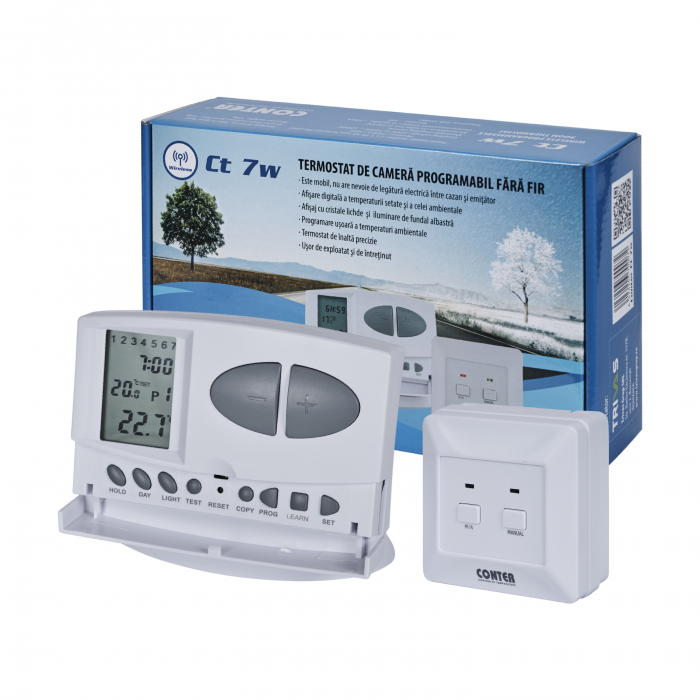 Termostat de ambient wireless Conter CT 7W 3