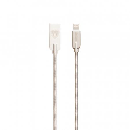 Cablu transfer date 2.1A, micro USB la USB (mama), lungime 1m, din otel, ranforsat, CK240