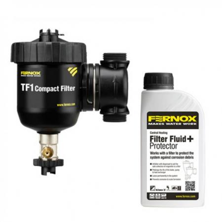 Filtru antimagnetita Fernox TF1 Compact + fluid protector1