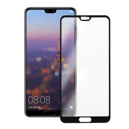 Folie sticla securizata 5D, 9H full screen, neagra, Huawei P20 Pro1