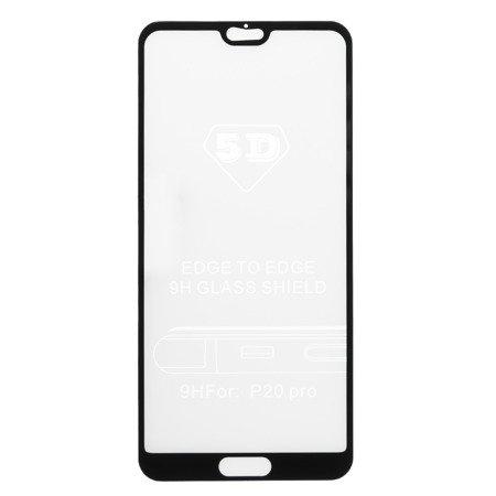 Folie sticla securizata 5D, 9H full screen, neagra, Huawei P20 Pro0
