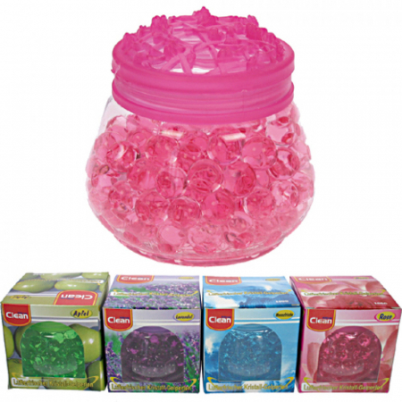 Perle gel odorizante Clean 100 g, parfum de trandafiri1