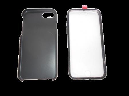Husa protectie 360° full TPU+PC, spate negru, fata transparenta, iPhone 7, iPhone 8, 7G, 8G1