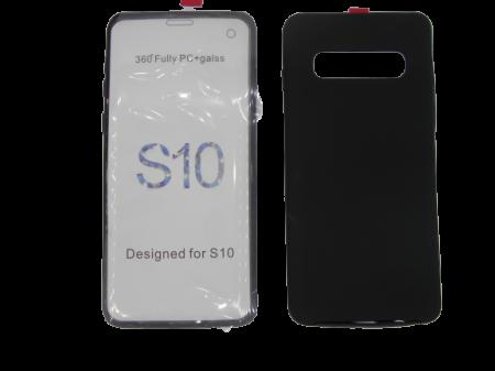 Husa protectie 360° full TPU+PC, spate negru, fata transparenta, Samsung S100