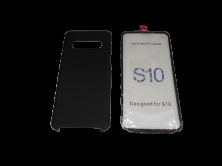 Husa protectie 360° full TPU+PC, spate negru, fata transparenta, Samsung S102