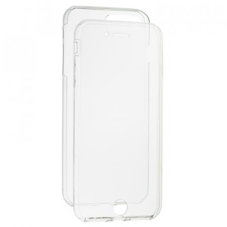 Husa protectie transparenta 360° full TPU+PC, iPhone 7, iPhone 8, 7G, 8G0