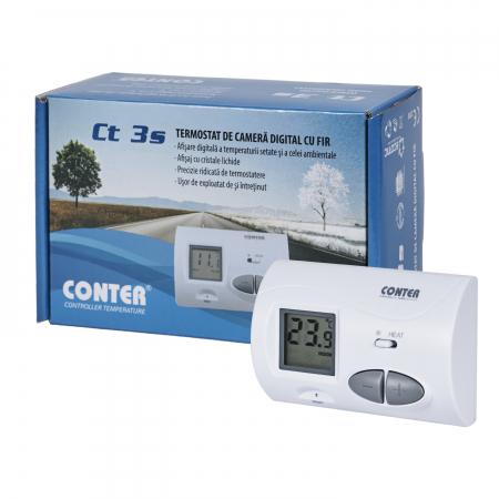 Termostat de ambient cu fir, Conter CT 3S1