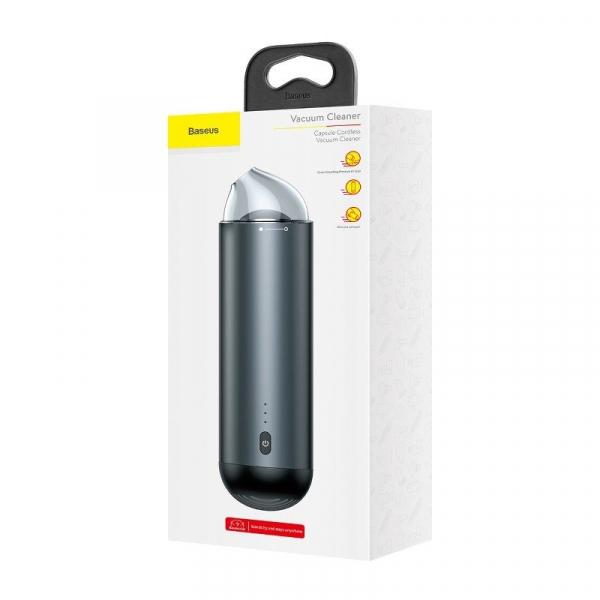 Aspirator auto Baseus wireless Capsule, 65 Wati, absorbtie 4000 Pa, 2000 mAh, 25 minute autonomie, filtrare tripla 5