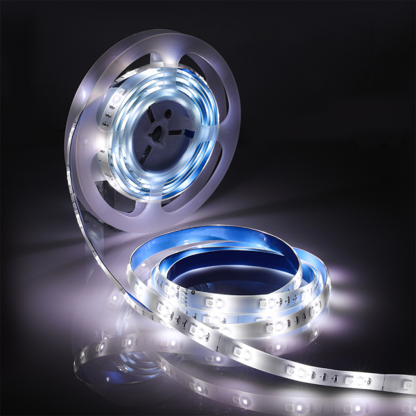 Banda LED RGBW Blitzwolf smart, Wi-Fi, 1250 lumeni, 16 mil culori, IP44, compatibila Google & Alexa, 5 metri 1