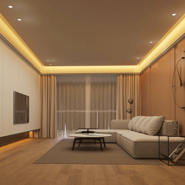 Banda LED Yeelight PRO, 5 metri, Wi-Fi, 500 lm/m, 2700K-6500K, compatibila smart home, alimentare 220-240V 3