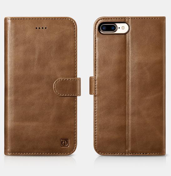 Husa din piele naturala ICARER, iPhone 7Plus / 8Plus, spate detasabil, compartimente card 2