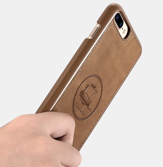 Husa din piele naturala ICARER, iPhone 7Plus / 8Plus, spate detasabil, compartimente card 4