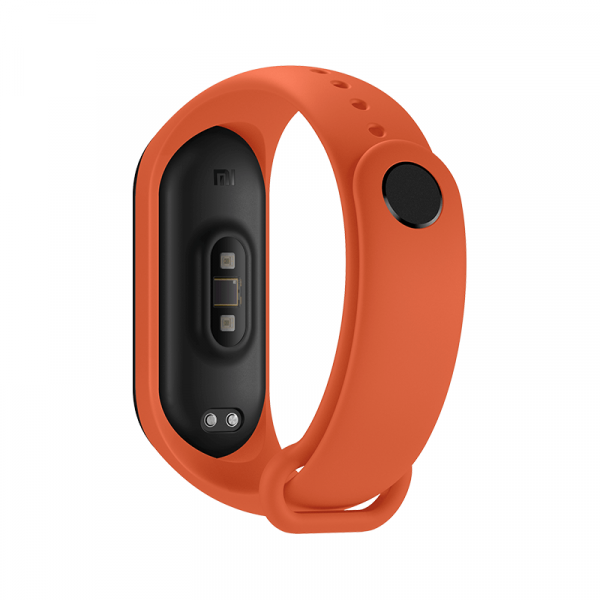 Bratara de schimb Xiaomi Mi Band 4, originala, thermal orange 3