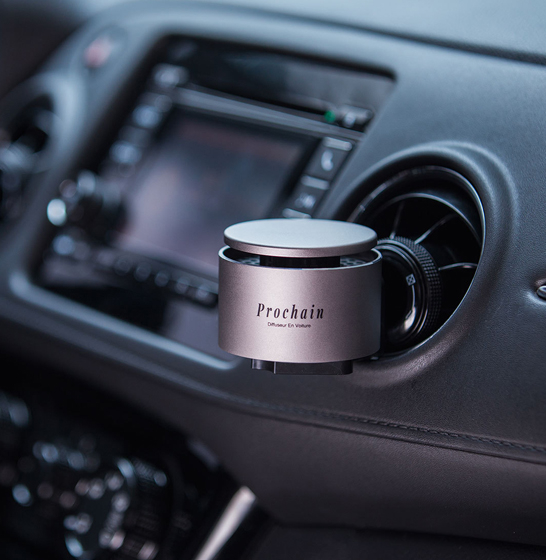 Odorizant auto Prochain (Xiaomi) Vivinevo, parfum floral, kit instalare cu baza magnetica 3