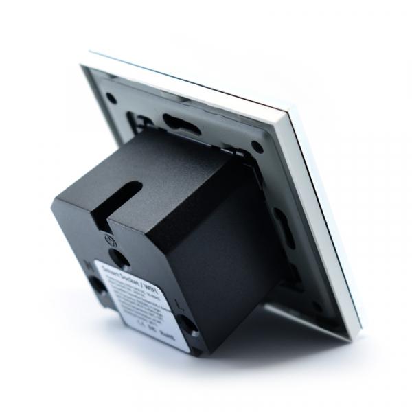 Priza inteligenta Vhub, rama din sticla, Wireless 2.4GHz, 16A, cu protectie, compatibila Google & Alexa, alba 3