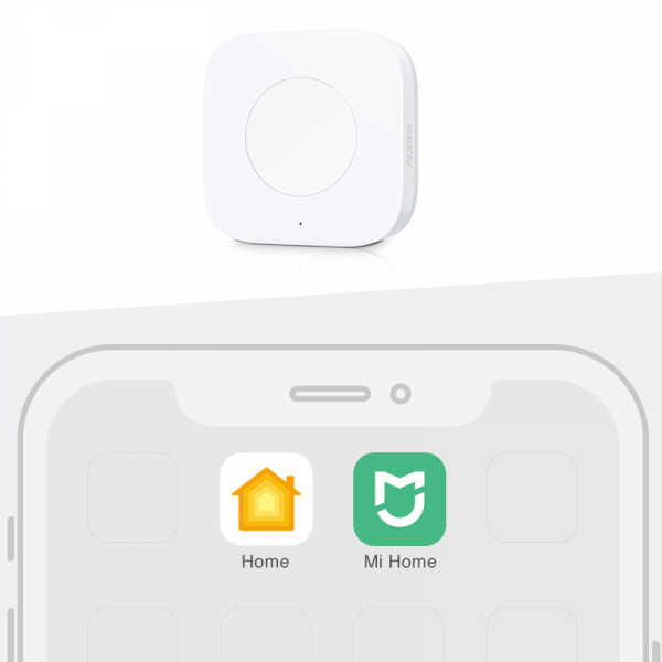Switch wireless Aqara, programabil la 3 actiuni, ZigBee, compatibil smart home Aqara, Xiaomi, Homekit 3
