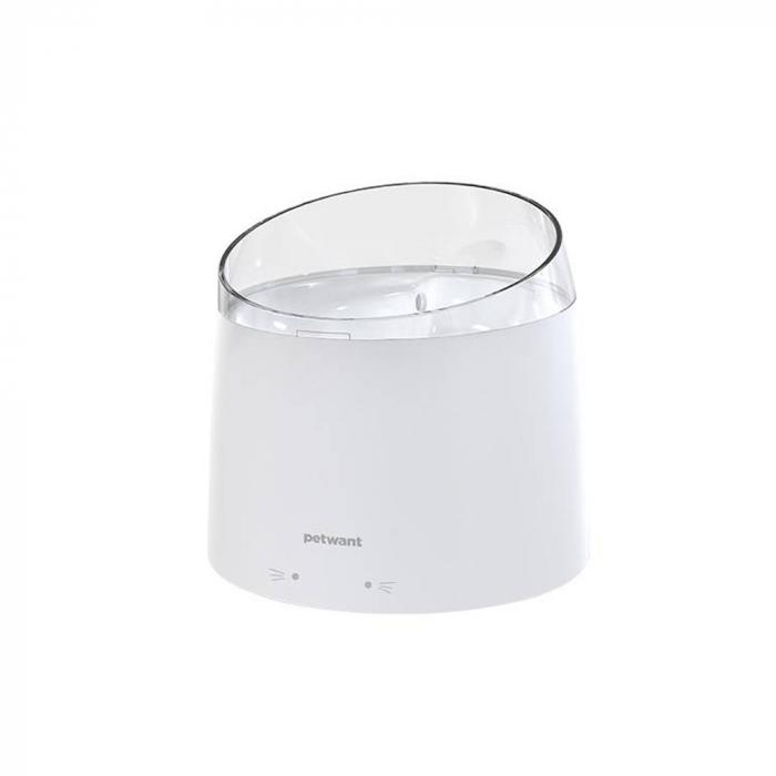 Adapator PetWant W2-N tip fantana pentru catei sau pisici, 1.5 litri, curatare UV, Alb [0]