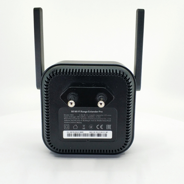 Amplificator wireless Xiaomi, Mi wifi repeater pro, 300Mbps, 2 antene, 2.4GHz, varianta europeana, negru 3