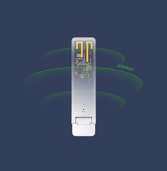 Amplificator, repetator semnal Wifi XIAOMI 300Mbps generatia 2-a 3