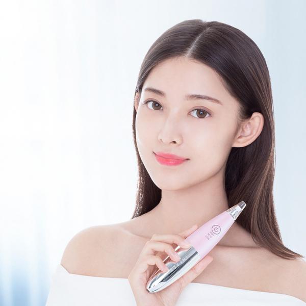Aparat cu vacuum Xiaomi inFace, eliminare puncte negre, curatare ten, 2 programe si 3 intensitati, 400mAh, pink 2