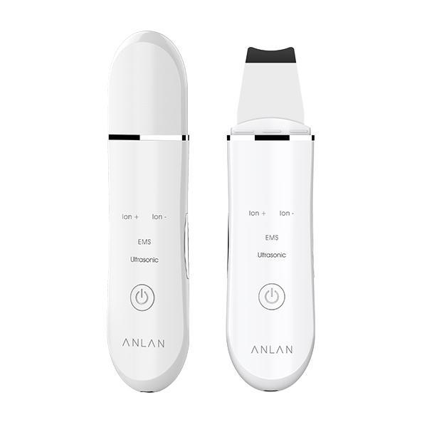 Aparat curatare faciala Anlan Scrubber Ultrasonic ionic, peeling, masaj EMS, hidratare, 24000 vibratii/secunda, alb 0