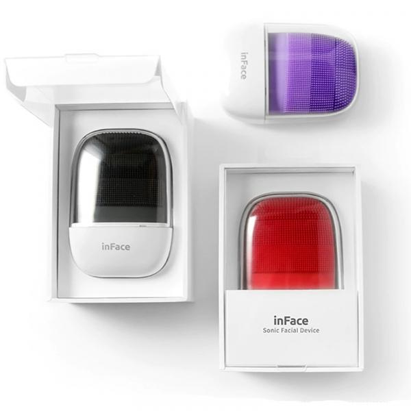 Aparat curatare faciala Xiaomi inFace Sonic, silicon medicinal, generatia a 2-a, 5 programe, waterproof IPX7, Negru 2