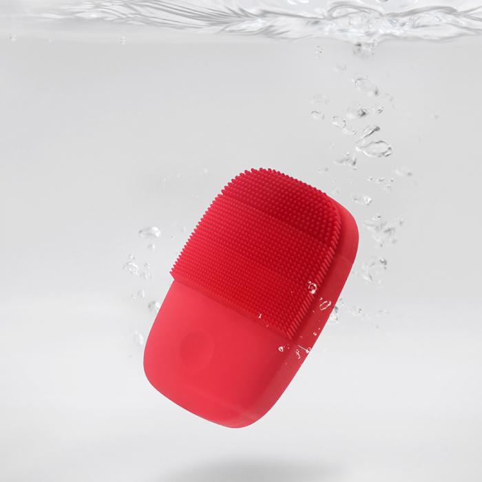 Aparat curatare faciala Xiaomi inFace Sonic, silicon medicinal, generatia a 2-a, 5 programe, waterproof IPX7, Rosu 2