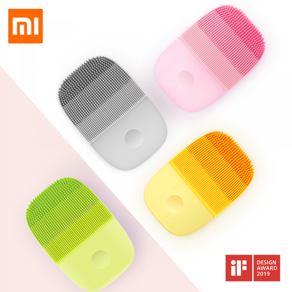 Aparat curatare ten Xiaomi inFace Sonic, silicon medicinal, tehnologie Sonic, 3 programe, waterproof IPX7, Pink 1