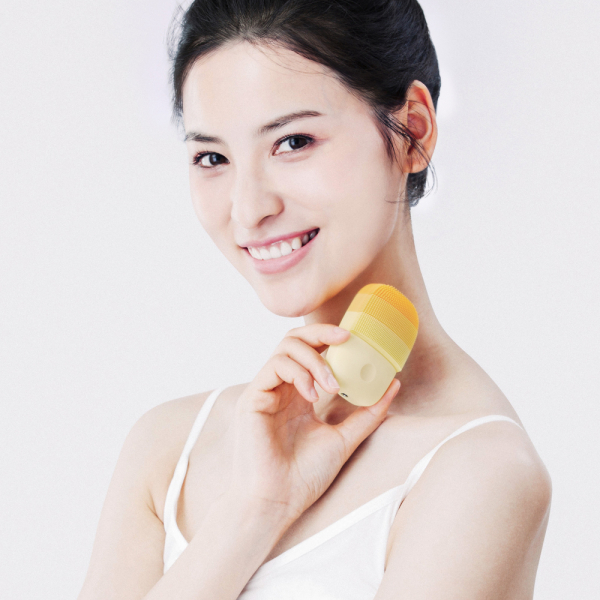 Aparat curatare faciala Xiaomi inFace Sonic, silicon medicinal, tehnologie Sonic, 3 programe, waterproof, verde 3