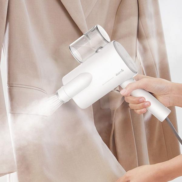 Aparat de calcat cu abur Xiaomi Deerma pentru haine, 800W, functie sterilizare, rezervor apa 100ml, perie inclusa 1