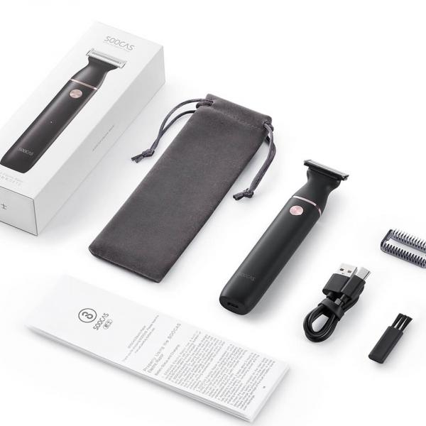 Aparat de ras Xiaomi Soocas ET2 2020, versiune EU, lama tripla, waterproof IPX7, 60 min autonomie, negru [3]