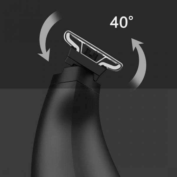 Aparat de ras Xiaomi Soocas ET2 2020, versiune EU, lama tripla, waterproof IPX7, 60 min autonomie, negru [1]