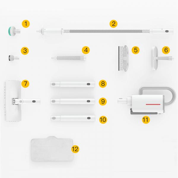 Aparat multifunctional cu abur Xiaomi Deerma 5 in 1, 1600W, 150°C, mop, curatare geamuri, canapele, versiune EU 4