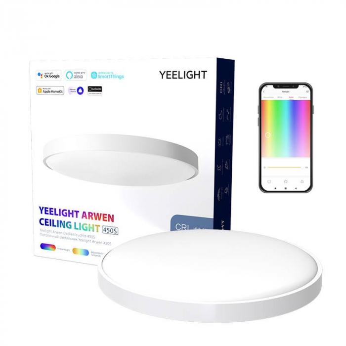 Aplica smart Yeelight Arwen 450S, 3000 lumeni, 455mm, Ra 90, 2700K-6500K, compatibila Google Home, Apple Homekit, SmartThings, Alexa 0