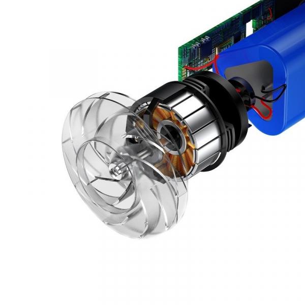 Aspirator auto wireless Baseus Capsule, 65W, 4000Pa, 2000 mAh, 25 minute autonomie, filtrare tripla, silver [3]