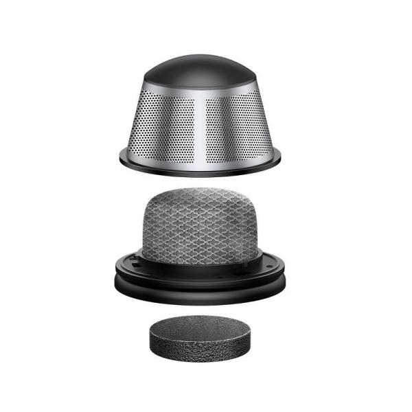 Aspirator auto wireless Baseus Capsule, 65W, 4000Pa, 2000 mAh, 25 minute autonomie, filtrare tripla, silver 4