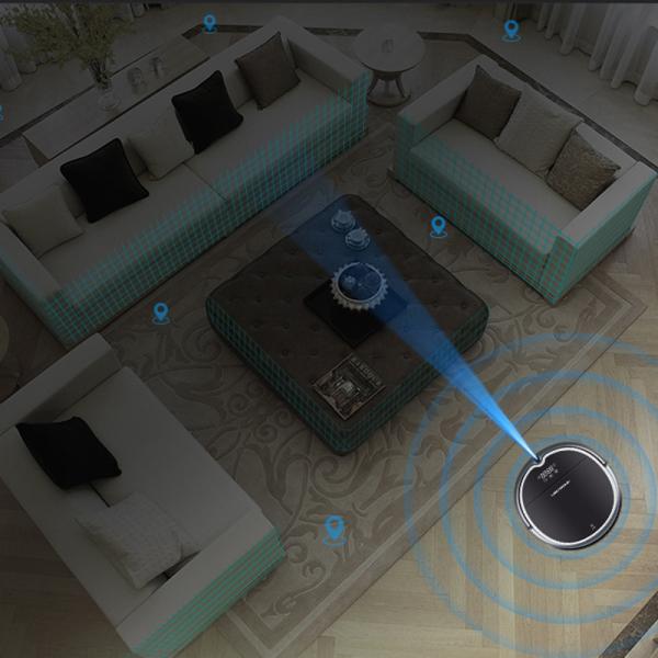 Aspirator robot smart Q8000, Wi-Fi, 3000Pa, acces de la distanta prin aplicatie, aspirare si spalare, navigare 2D [1]