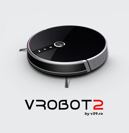 Aspirator smart VROBOT-II, control de la distanta, WiFi, functie de spalare, compatibil Google, Alexa 0