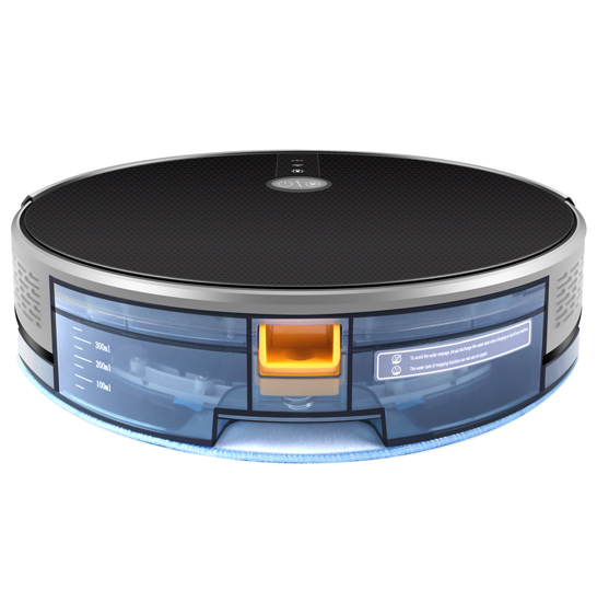 Aspirator smart VROBOT-II, control de la distanta, WiFi, functie de spalare, compatibil Google, Alexa 3