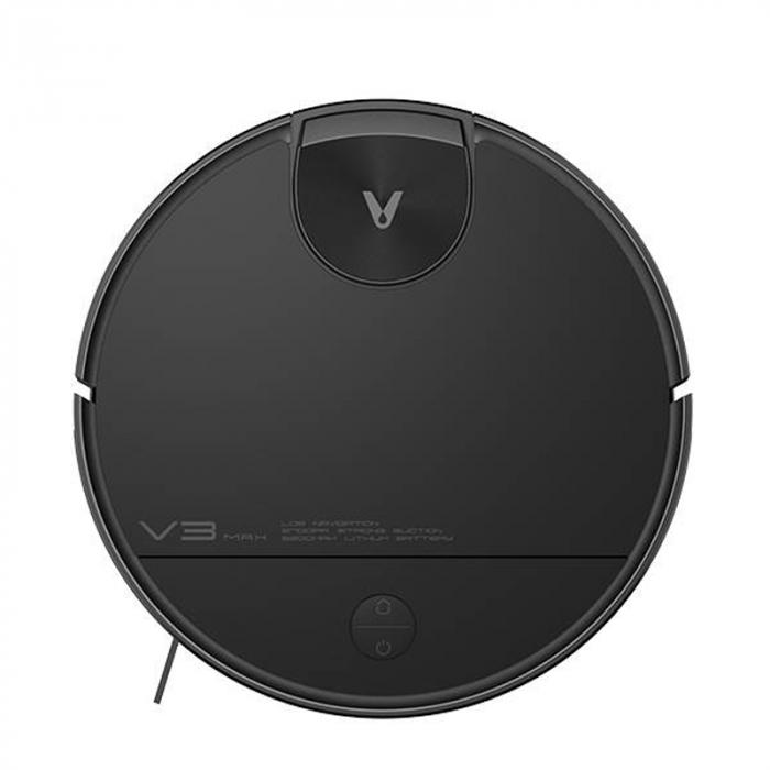 Aspirator smart robot Xiaomi Viomi V3 Max, model 2021, navigare laser, 5200mAh, absorbtie 2700Pa, compatibil Mi Home, Google Home, Amazon Alexa, versiune EU, negru [0]