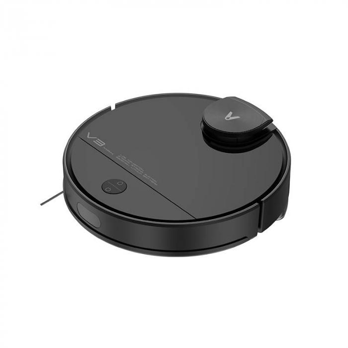 Aspirator smart robot Xiaomi Viomi V3 Max, model 2021, navigare laser, 5200mAh, absorbtie 2700Pa, compatibil Mi Home, Google Home, Amazon Alexa, versiune EU, negru [1]