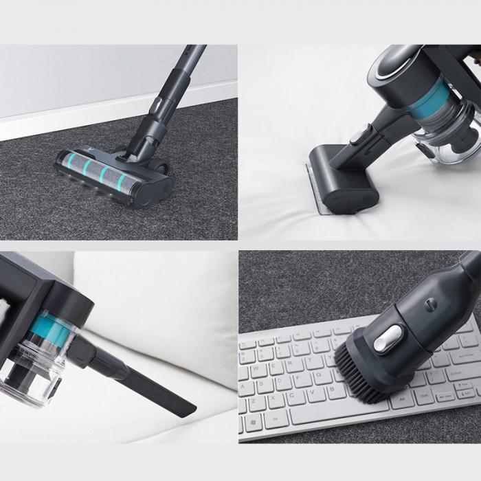 Aspirator vertical wireless Viomi A9,  23000Pa, filtrare ciclonica, 2500mAh, lumini LED, 4 perii, 60 minute autonomie 2